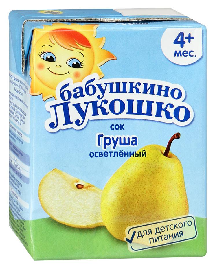 Купить Сок Бабушкино лукошко Груша с 4 мес 200 мл, Бабушкино Лукошко, Детские напитки