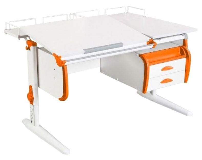 Парта Дэми White Double СУТ-25-04 Белый/Оранжевый