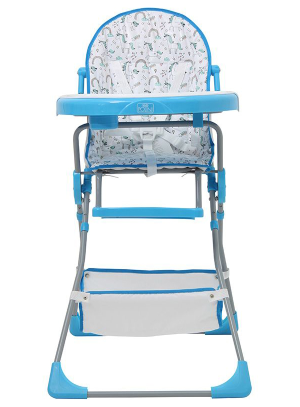 Стульчик для кормления Polini Kids 252 Единорог Радуга, Голубой