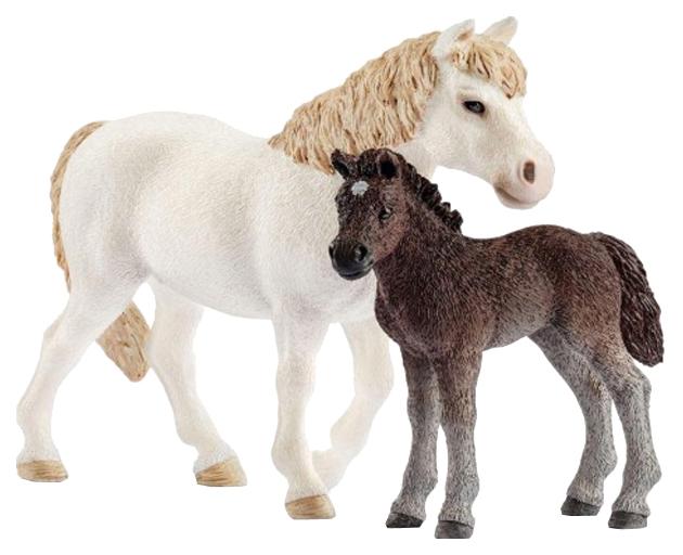 Купить Фигурка животного Schleich Кобыла пони и жеребенок 42423, Игровые фигурки