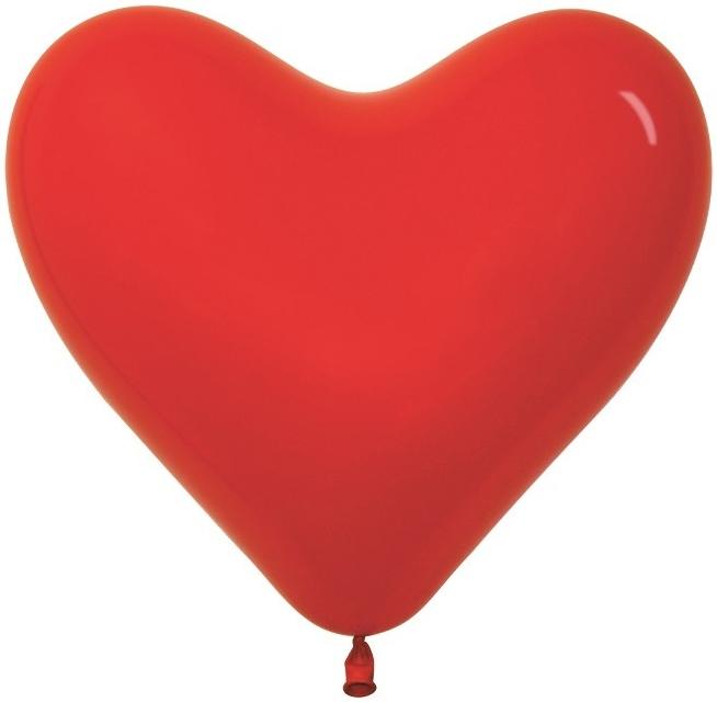Воздушный шар сердце 16 цвет Красный пастель