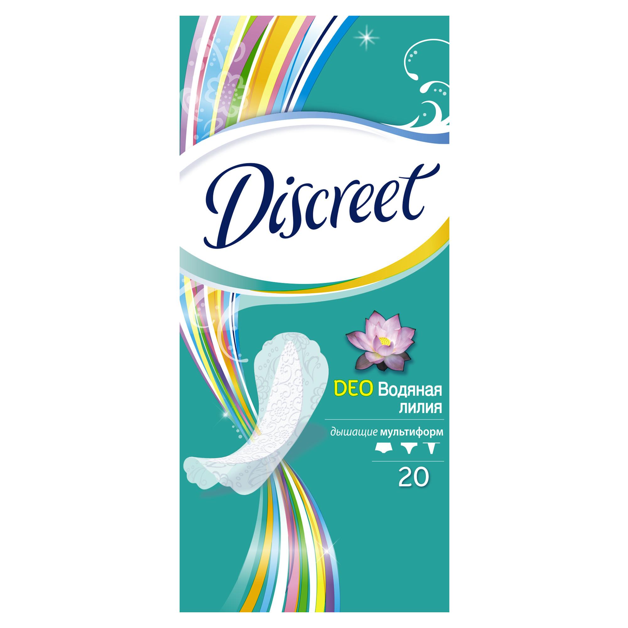 Купить Прокладки Discreet ежедневные Deo Water Lily Multiform Single 20шт, прокладки 83728252