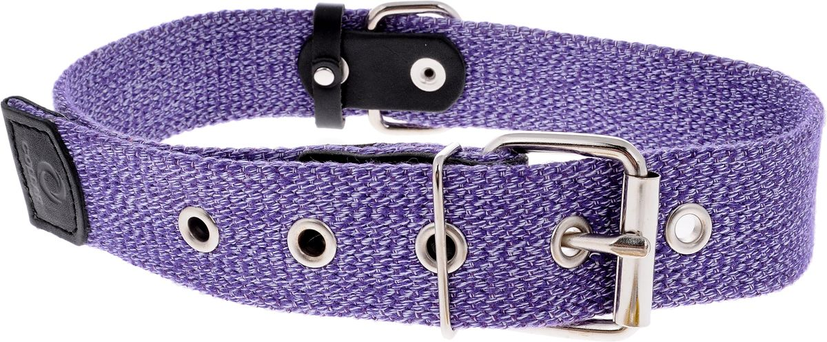 Ошейник для собак COLLAR брезентовый, фиолетовый, 35 мм, 51 - 63 см