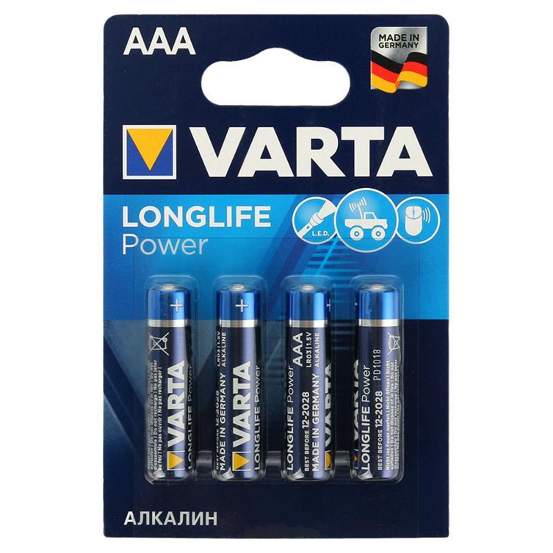 Батарейка VARTA High Energy/Longlife Power LR03/AAA