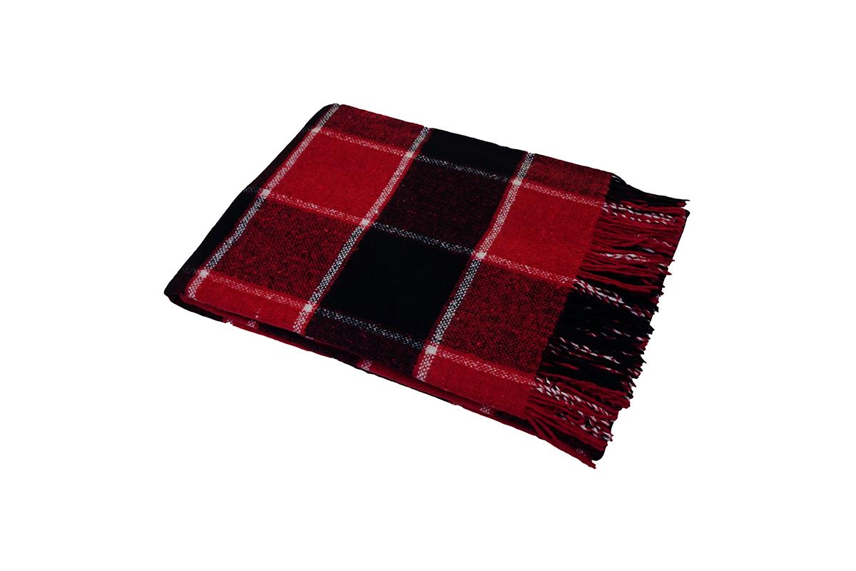Плед Palermo Цвет: Красный, Черный, Белый (140х200 см)