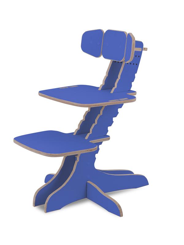 Растущий детский стул Kandle Ergosmart синий