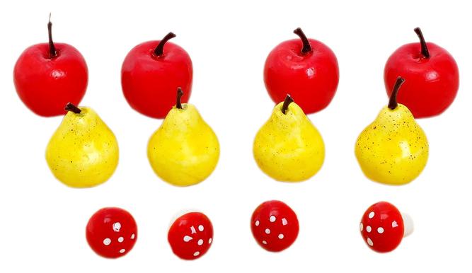 Купить Счётный материал «Весёлые задачки: грибы, яблоки, груши», 12 шт Забияка, Развивающие игрушки