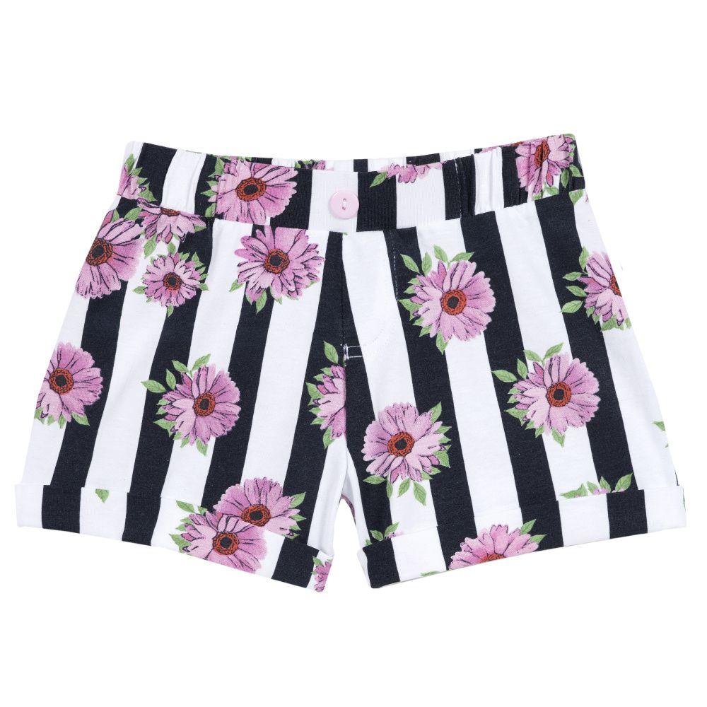 Купить 9052803, Шорты Chicco цветы и черно-белая полоска, размер 110,
