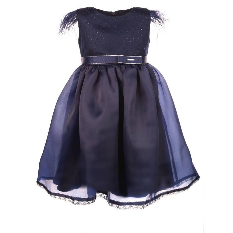 Купить 1578, Платье Орбина UNONA D'ART, цв. синий, 128 р-р, Платья для девочек
