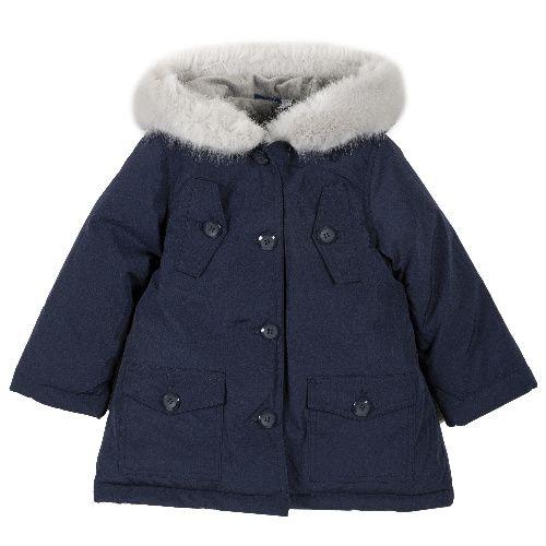 Купить 9087438, Куртка Chicco для девочек р.110 цв.темно-синий, Куртки для девочек