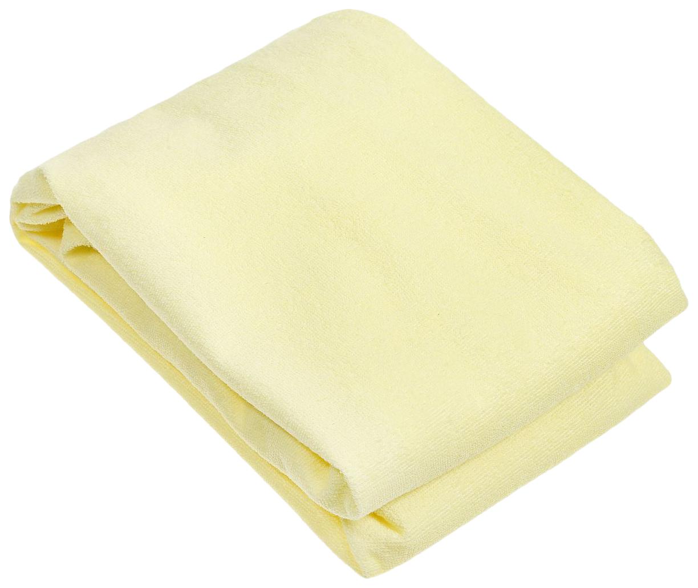 Наматрасник для овальной кроватки Baby Nice, желтый