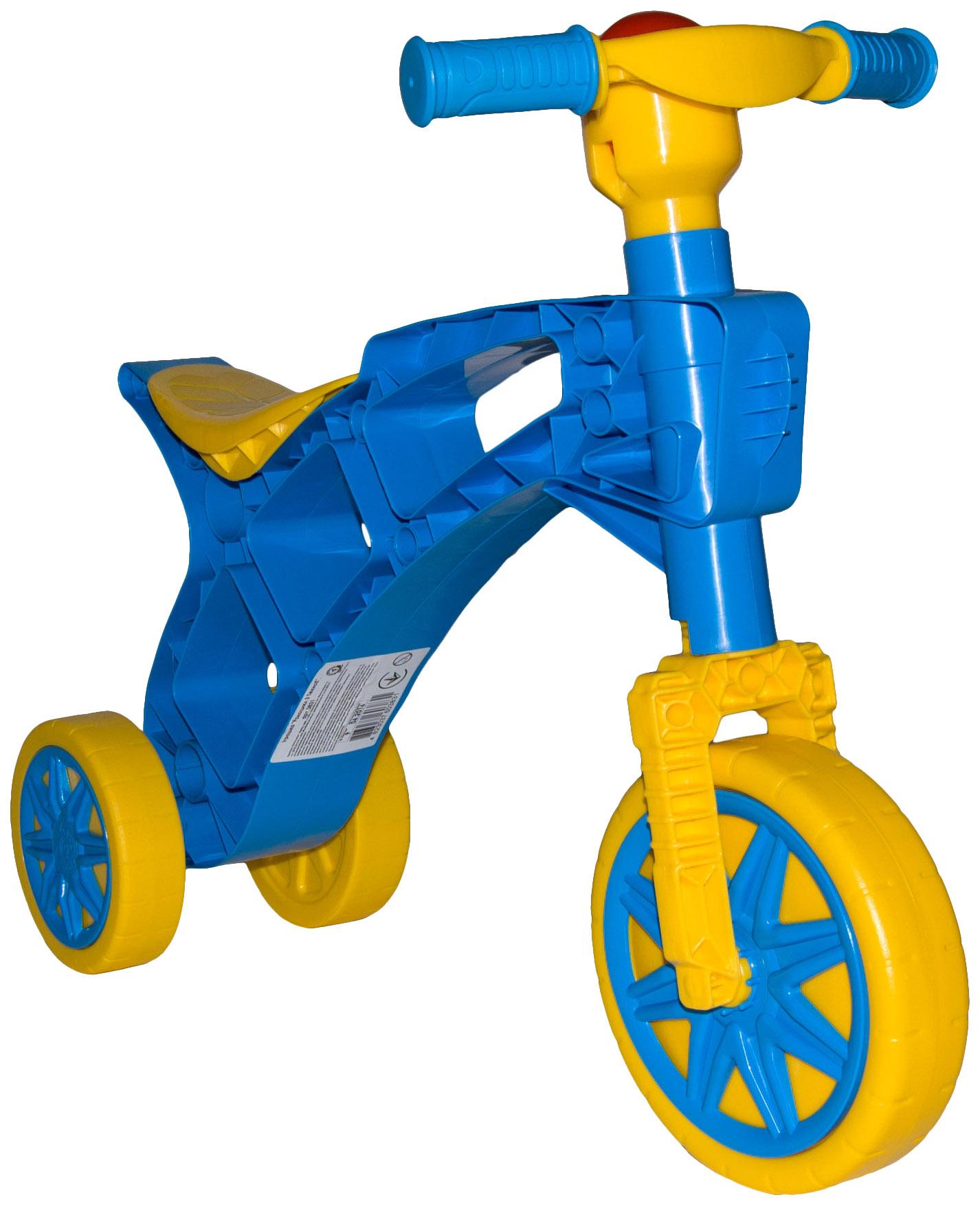 Купить Каталка детская R-TOYS Т3831 Беговел Ролоцикл 3 Колеса С Клаксоном Синяя, Каталки мотоциклы