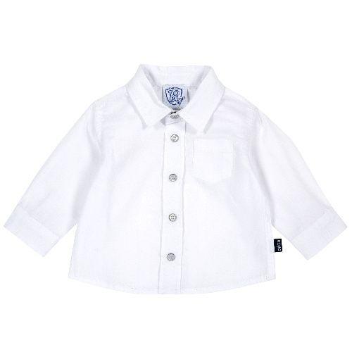 Купить 9054506, Рубашка Chicco для мальчиков, размер 74, цвет белый, Кофточки, футболки для новорожденных