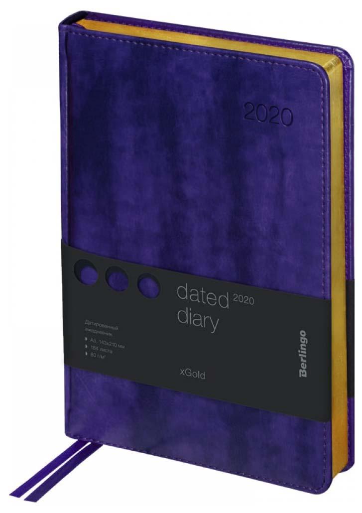 Ежедневник недатированный Berlingo «xGold», А5, 160 листов, фиолетовый