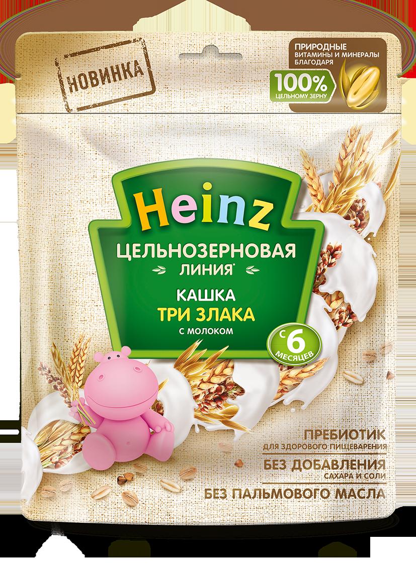 Каша молочная Heinz 3 злака цельнозерновая с 6 мес. 180 г, 7 шт.