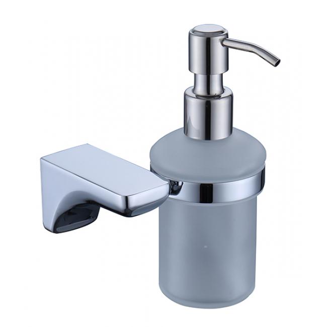 Дозатор для жидкого мыла настенный (стекло) хром