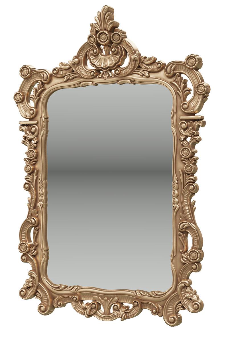 Зеркало Мэри-Мебель ЗК-01, цвет золото, 70х8х106 см. фото