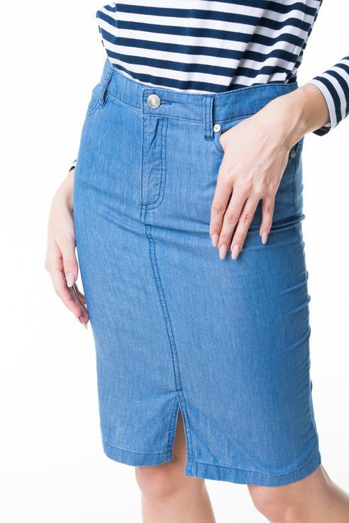 Юбка женская Baon B478022 голубая S
