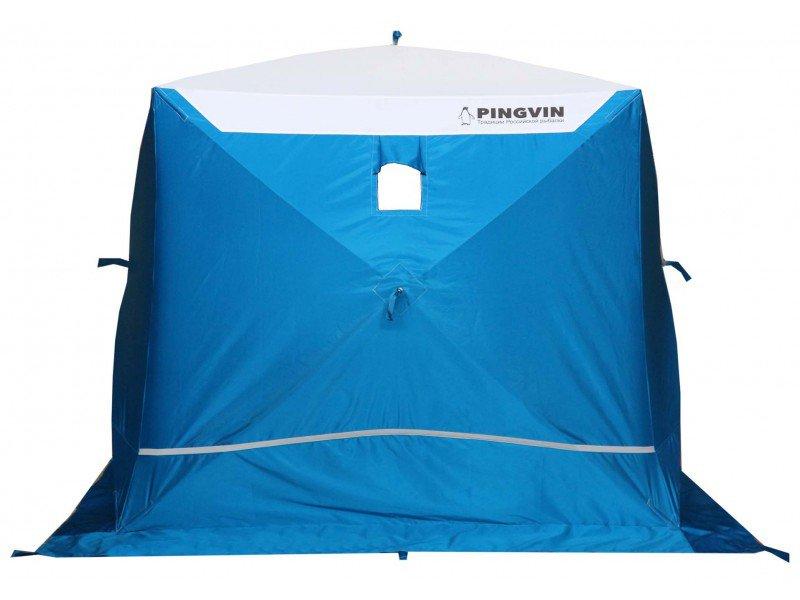 Палатка Пингвин Призма Премиум Strong трехместная белая/оранжевая