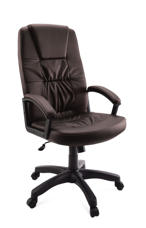 Кресло руководителя ГЕЛЕОС Гранд, коричневый