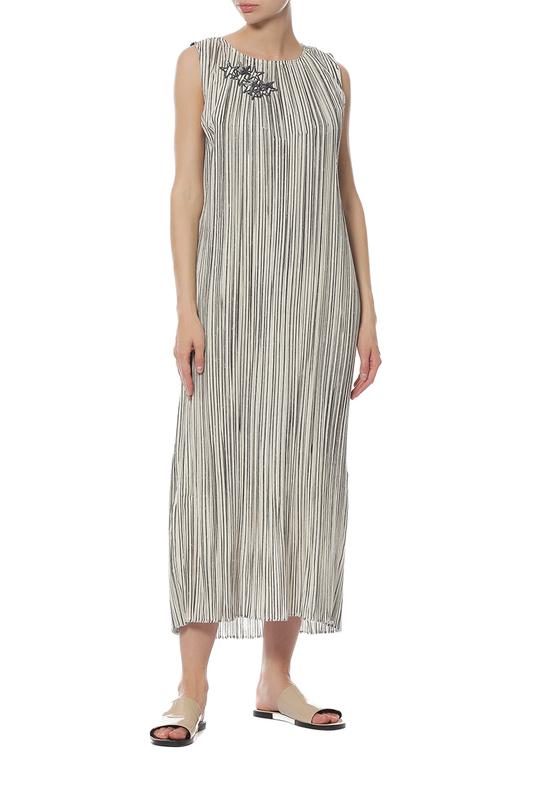 Платье женское LORENA ANTONIAZZI PL3328X2/2058/0001 бежевое 40 IT