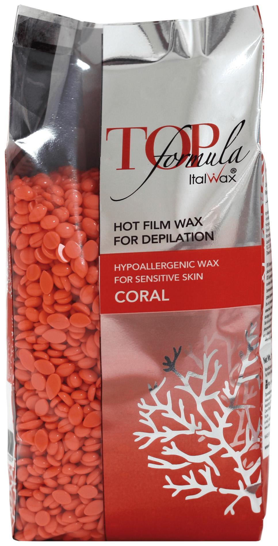 Воск для депиляции ItalWax Top Formula Коралл