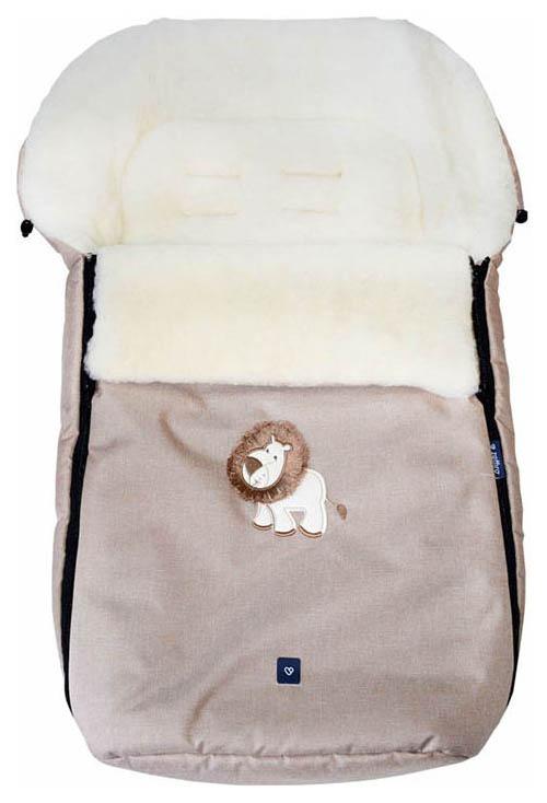 Купить Спальный мешок в коляску Womar №S77 Exlusive Lion Melange fabric Бежевый, Конверты в коляску