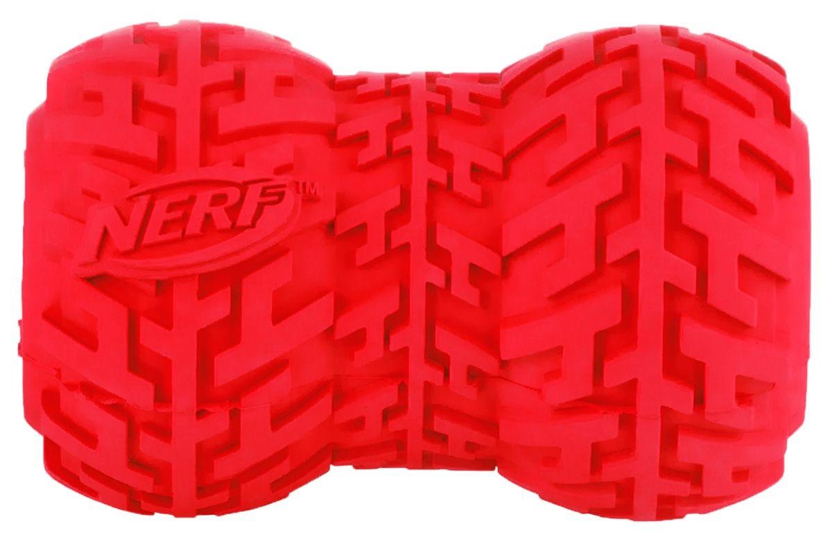 Игрушка для лакомств для собак NERF Игрушка-кормушка, красный, длина 9 см