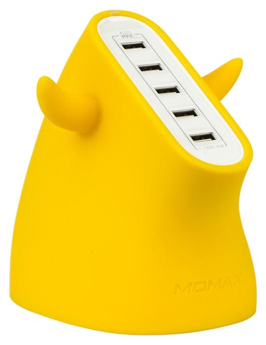 Сетевое зарядное устройство MoMax U.Bull 5 USB 8A Yellow фото