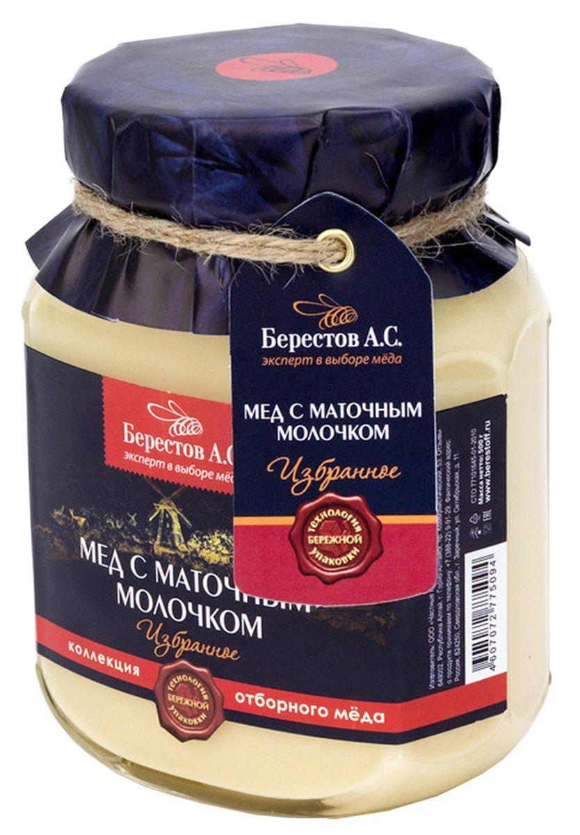 Мед натуральный Берестов А.С.  с маточным молочком 500 г