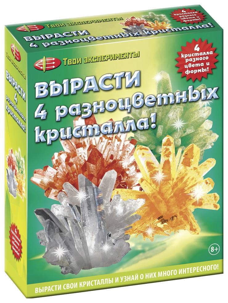 Набор для выращивания кристаллов Мини-Маэстро 4 разноцветных кристалла