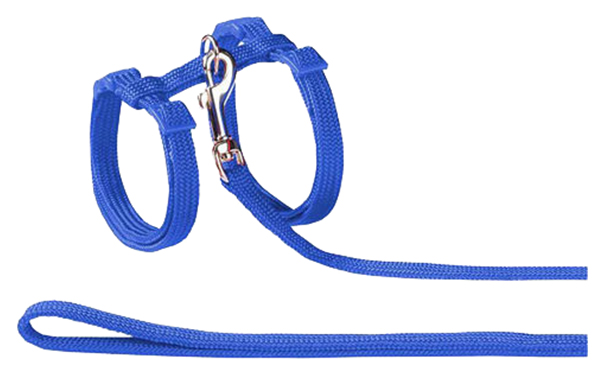 Шлейка для кошек NOBBY 72218 06 синяя