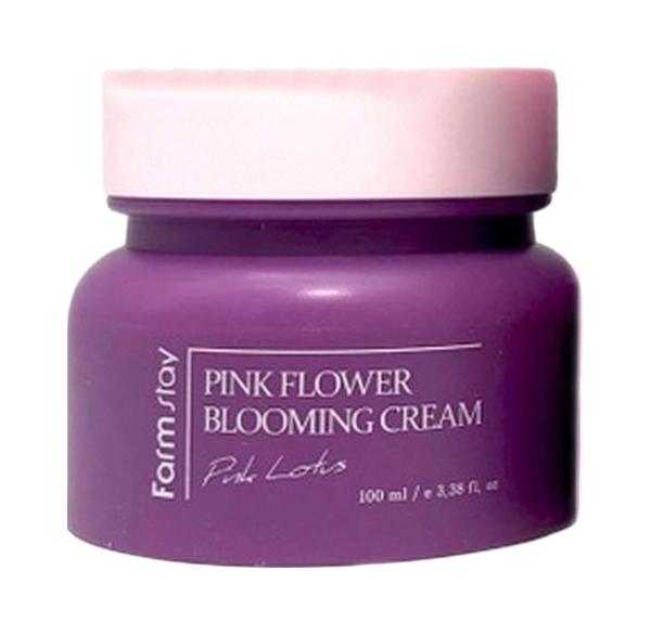 Крем для лица FarmStay Pink Flower Blooming Cream Pink Lotus 100 мл