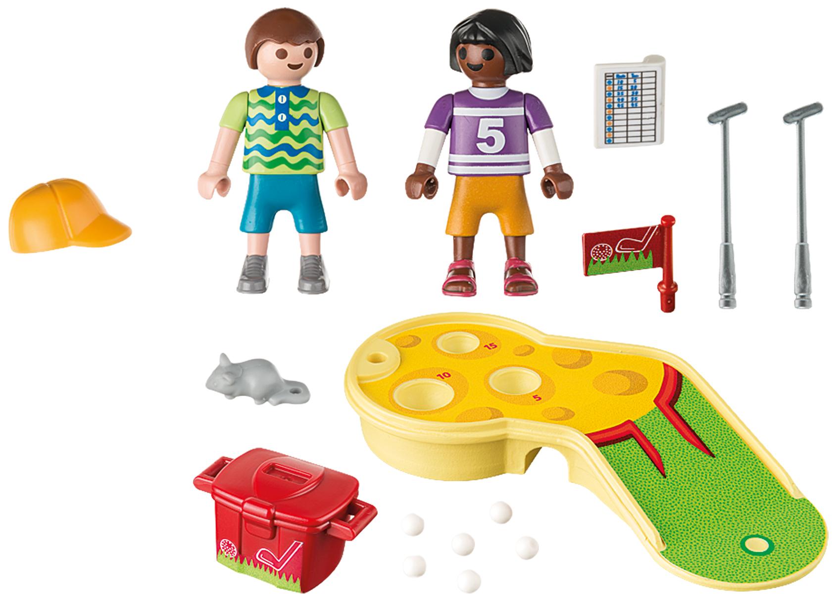Купить Игровой набор Playmobil Экстра-набор:Играющие дети в мини-гольф, Игровые наборы