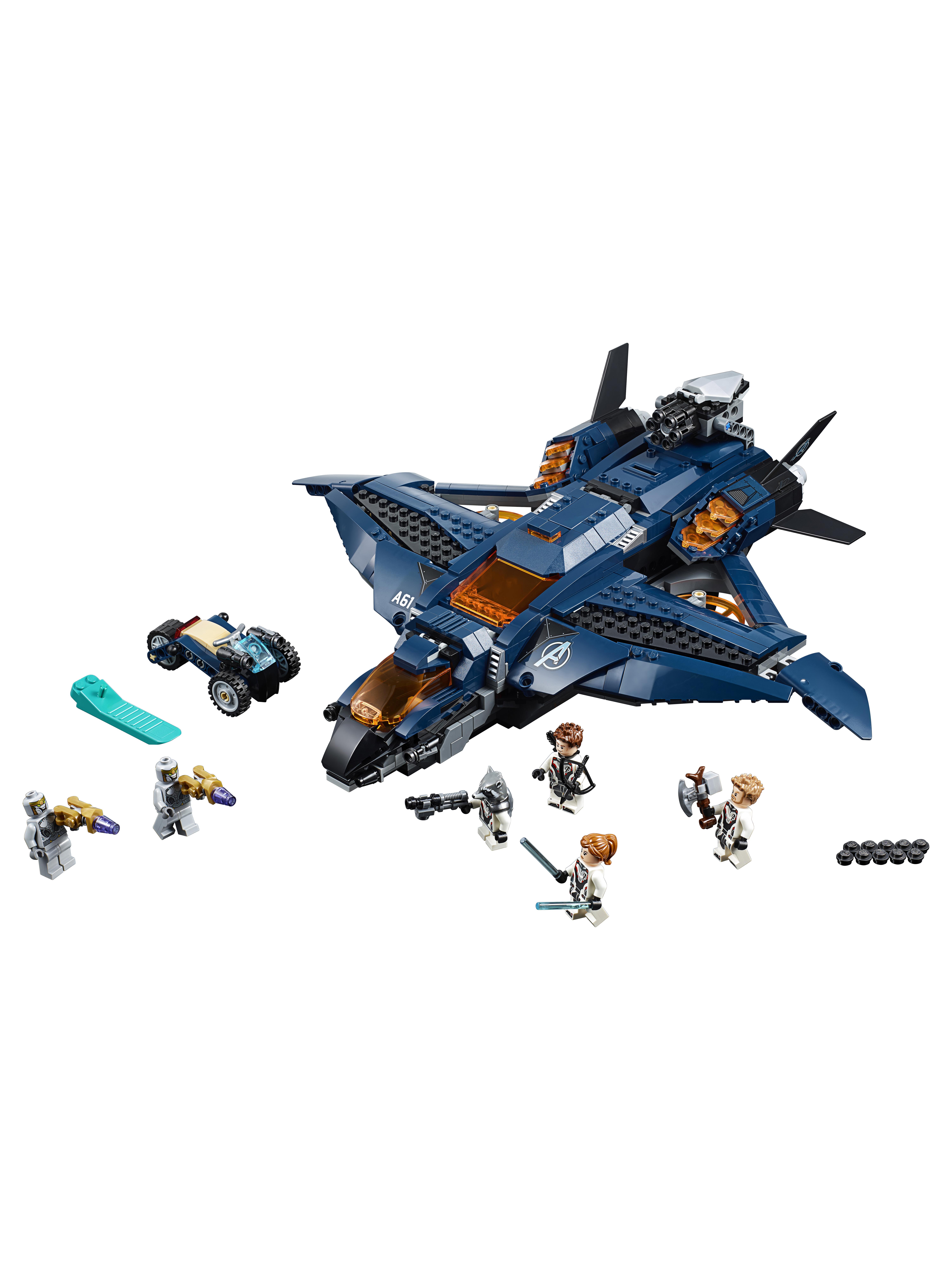 Конструктор LEGO Marvel Super Heroes 76126 Модернизированный квинджет Мстителей фото