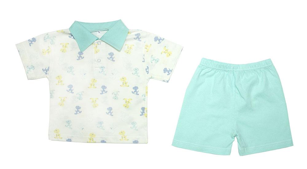 Комплект одежды Осьминожка, цв. зеленый р.74