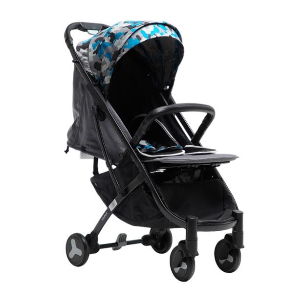 Купить Прогулочная коляска Farfello S600 синий камуфляж, Коляски книжки