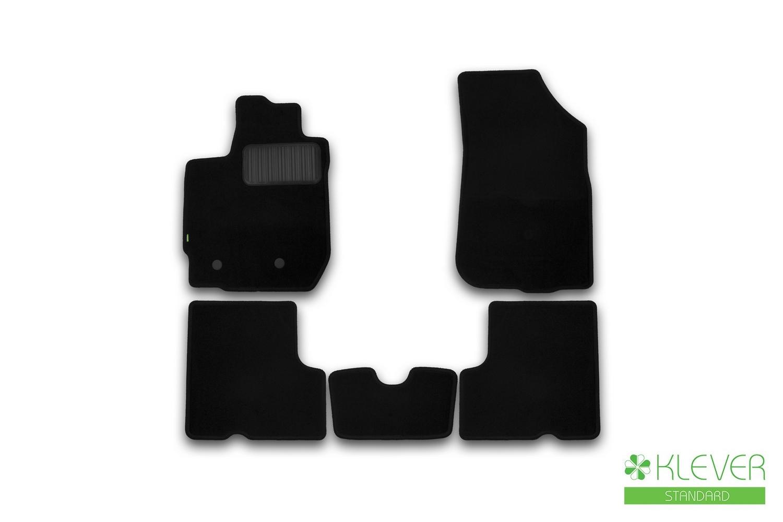 Коврики в салон Klever Standard для RENAULT Duster 2WD/4WD, 2015, 4 шт текстиль
