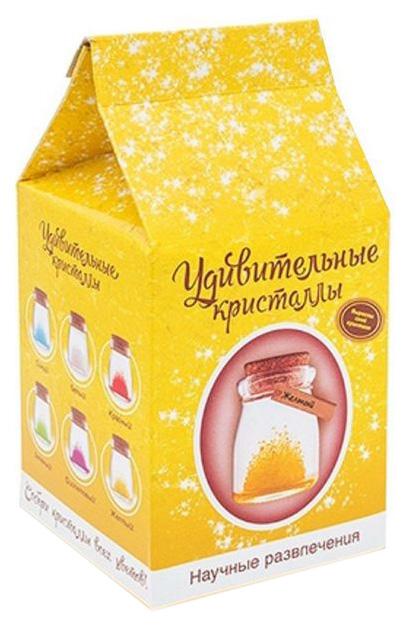Купить Набор для выращивания кристаллов Магические кристаллы цвет желтый, Наборы для выращивания кристаллов