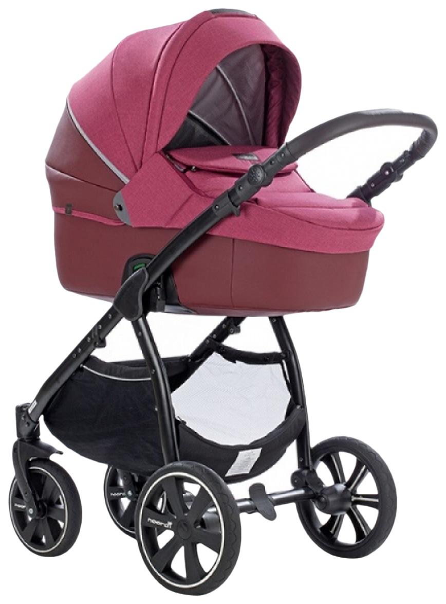 Купить Коляска детская 2 в 1 Noordi Fjordi Melange Sport Leather 662843/SP Бордовый,