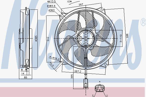 Вентилятор охлаждения двигателя NISSENS 85788
