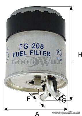 Топливный фильтр GOODWILL FG 208