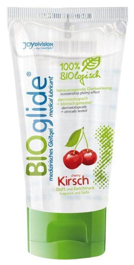 Купить Bioglide с ароматом вишни, Гель-смазка Joy Division BIOglide Kirsch на водной основе с ароматом вишни 80 мл