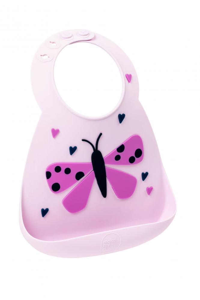 Купить Нагрудник детский Make my day butterfly, Слюнявчики