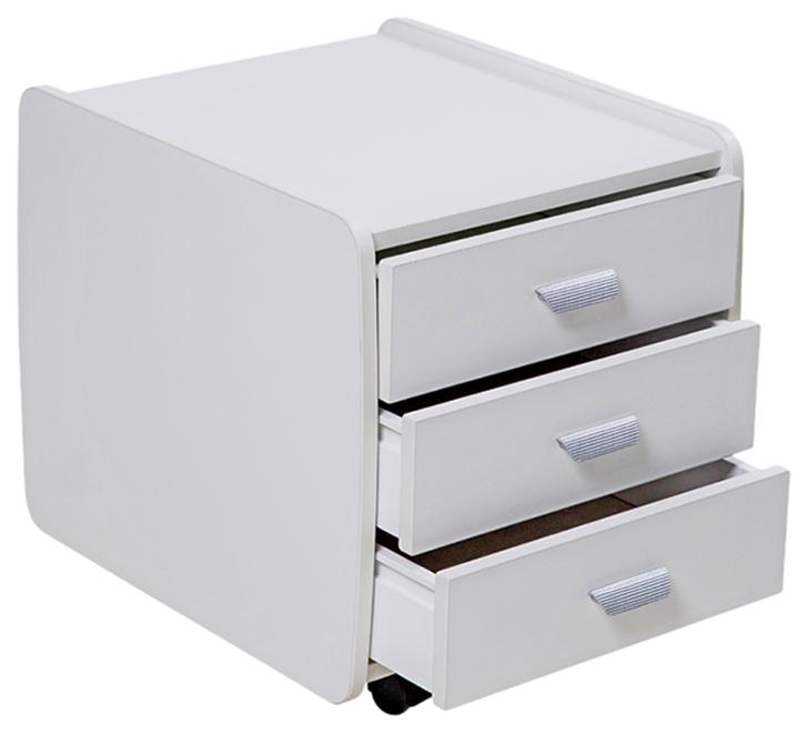 Тумба Астек 3 ящика (цвет товара: белый)