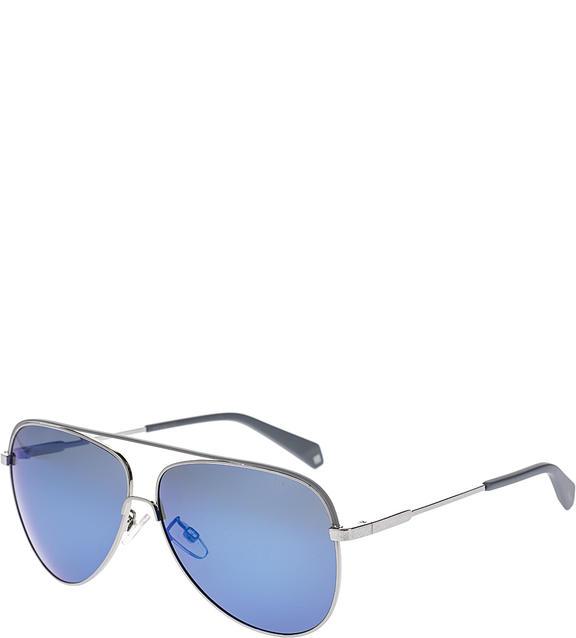 Солнцезащитные очки мужские Polaroid PLD 2054/F/S 6LB, серебряный фото