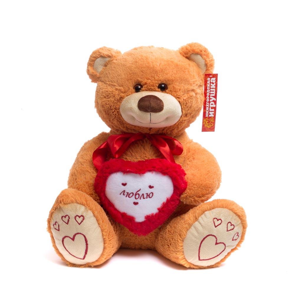 Купить Мягкая игрушка Нижегородская Игрушка Мишка средний с сердцем, Нижегородская игрушка, Мягкие игрушки животные