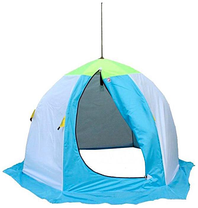 Миниатюра Палатка-автомат Медведь 2 двухместная голубая/зеленая №2