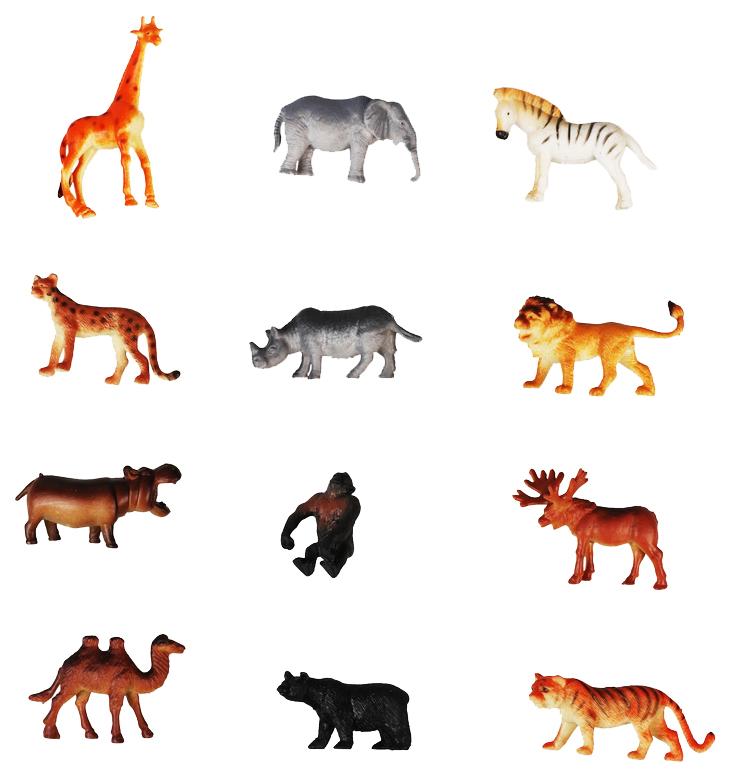 Купить Игровой набор 1Toy В мире животных Дикие животные Т50463 12 шт, 1 TOY, Игровые наборы