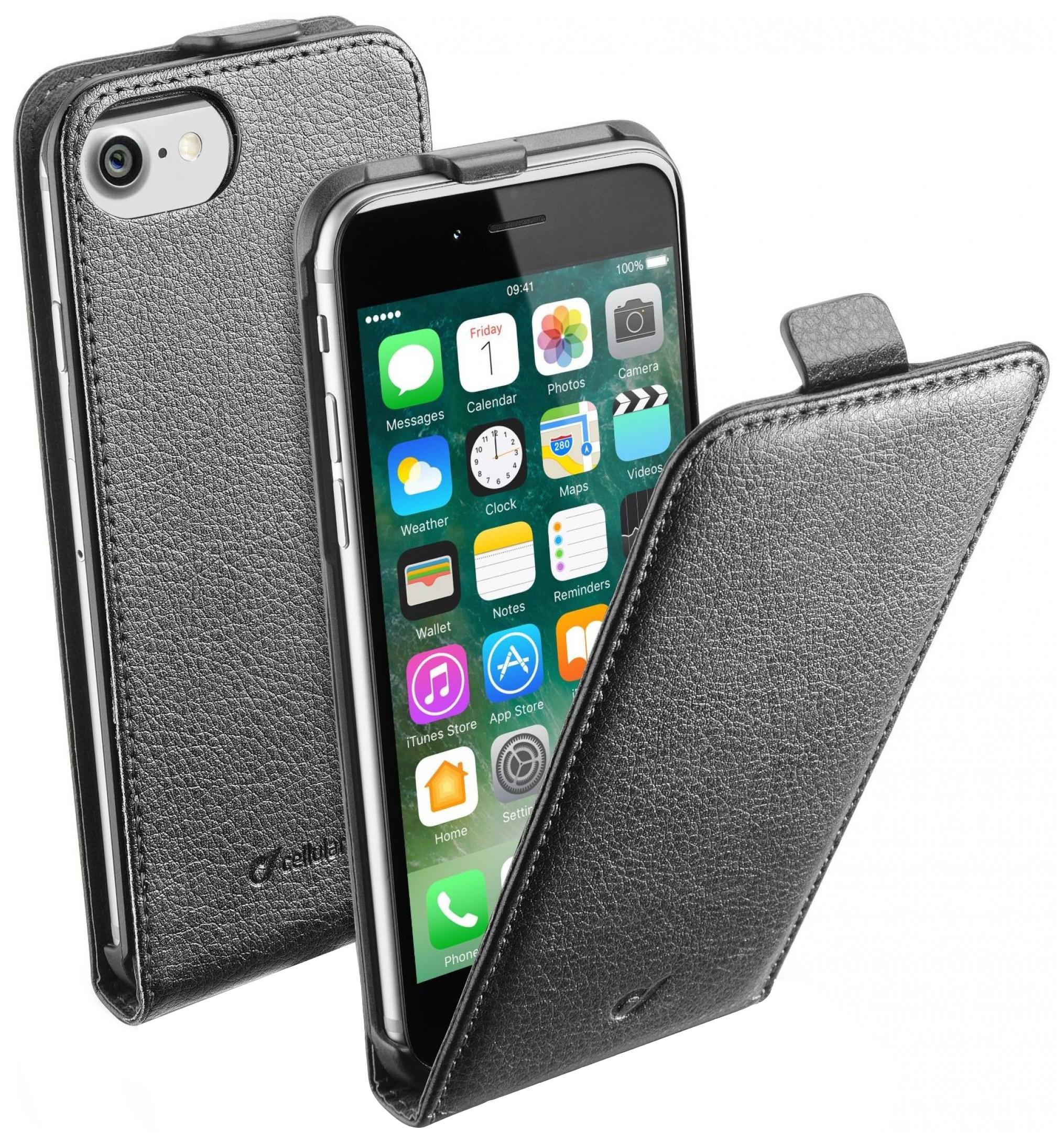 Чехол Cellular Line Flap Essential для Apple iPhone 7 (FLAPESSIPH747K)